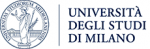 on the right the written university of milano and symbol on the left