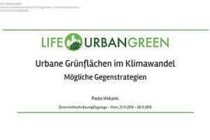 Urbane Gruenflaechen im Klimawandel